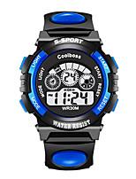 Недорогие -Дети электронные часы Цифровой Современный Спортивные Pезина Черный / Синий 30 m Новый дизайн Светодиодная лампа ЖК экран Цифровой Мода Cool - Черный Синий Два года Срок службы батареи
