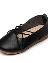 Недорогие -Девочки Удобная обувь Полиуретан На плокой подошве Маленькие дети (4-7 лет) Белый / Черный / Красный Лето
