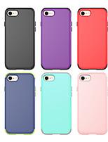 Недорогие -Кейс для Назначение Apple iPhone 8 Защита от удара Кейс на заднюю панель Однотонный ПК / силикагель