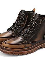 Недорогие -Муж. Армейские ботинки Микроволокно Наступила зима Ботинки Сохраняет тепло Ботинки Коричневый / Темно-коричневый / Серый