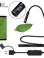 Недорогие -3 в 1 usb эндоскоп daul камера водонепроницаемая ip67 8 мм объектив жёсткий провод 2 м бороскоп осмотр камеры змея видеокамера с 6 светодиодами для андроид ПК