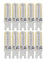 Недорогие -10 шт. 3 W Двухштырьковые LED лампы 340 lm G9 104 Светодиодные бусины SMD 3014 Декоративная Милый Тёплый белый Холодный белый 110-130 V