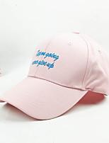 Недорогие -Муж. Жен. Активный Классический Симпатичные Стиль Бейсболка Хлопок,Однотонный Все сезоны Черный Белый Розовый
