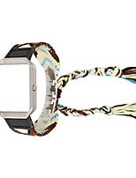 Недорогие -для fitbit blaze многоцветный вязаный шерстяной браслет из комбинированной кожи