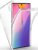 Недорогие -Кейс для Назначение SSamsung Galaxy Note 9 / Note 8 / Galaxy Note 10 Защита от удара / Прозрачный Чехол Однотонный ТПУ / ПК