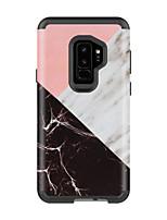 Недорогие -Кейс для Назначение SSamsung Galaxy S9 / S9 Plus Защита от удара / Защита от влаги Кейс на заднюю панель Мрамор ПК / силикагель