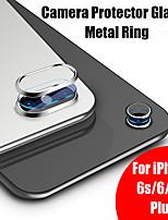 Недорогие -для iphone 7 стекло вкл. для iphone 8 plus 6s 6 9h твердость камеры защитное закаленное стекло + металлическое заднее защитное кольцо камеры объектива