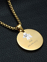Недорогие -Персонализированные Индивидуальные Пудель Теги для домашних животных Классический Подарок Повседневные 1pcs Золотой Серебряный