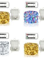 Недорогие -10м рождественские гирлянды 100 светодиодов 13-клавишный пульт дистанционного управления теплый белый / RGB / белый / синий / креатив / светодиодный рождественский фонарь / новый дизайн / партия