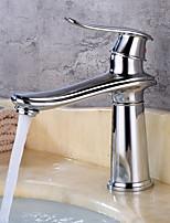 Недорогие -Ванная раковина кран - Широко распространенный Латунь Свободно стоящий Одной ручкой одно отверстиеBath Taps