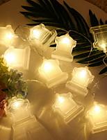 Недорогие -3M Гирлянды 20 светодиоды Тёплый белый Декоративная 3 V 1 комплект
