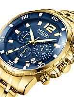 Недорогие -бизнес спортивные мужские водонепроницаемые хронометражные кварцевые часы megir 2068