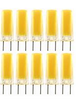 Недорогие -10 шт. 3 W Двухштырьковые LED лампы 300-390 lm G8 1 Светодиодные бусины COB Декоративная Милый Тёплый белый Холодный белый 220-240 V 110-130 V