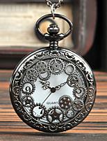 Недорогие -Муж. Карманные часы Кварцевый Старинный Черный Творчество Новый дизайн Аналого-цифровые Винтаж - Черный