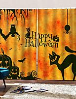 Недорогие -Роскошные 3d цифровые печатные шторы счастливый Хэллоуин тема фон занавес затемнения 100% полиэстер занавес
