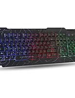 Недорогие -USB проводной треск подсветки игровой клавиатуры для десктопа
