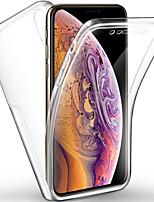Недорогие -чехол для яблока iphone xs / iphone xr / iphone xs max ударопрочный / пыленепроницаемый чехол для всего тела прозрачный тпу / шт
