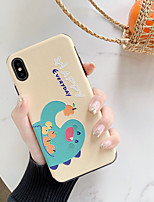 Недорогие -Кейс для Назначение Apple iPhone XS / iPhone XR / iPhone XS Max Ультратонкий / С узором Кейс на заднюю панель Животное / Мультипликация ТПУ