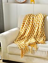 Недорогие -Одеяла, Однотонный / Дамаск / Простой Акриловые волокна Мягкость удобный одеяла