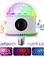 Недорогие -светодиодные лампочки диско bluetooth музыкальный динамик пульт дистанционного rgbwhite волшебный проектор свет этапа e27