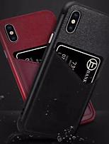 Недорогие -Кейс для Назначение Apple iPhone XS / iPhone XR / iPhone XS Max Бумажник для карт Кейс на заднюю панель Однотонный холст
