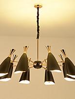 Недорогие -Люстра на 8 ламп / металлический подвесной светильник империи с гальваническим покрытием для гостиной / спальни / e27 / 26 и регулируемая лампа накаливания g9 / 110-120v / 220-240v