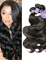 Недорогие -3 Связки Бразильские волосы Естественные кудри человеческие волосы Remy 100% Remy Hair Weave Bundles Человека ткет Волосы Удлинитель Пучок волос 8-28 дюймовый Естественный цвет Ткет человеческих волос