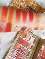 Недорогие -15 цветов Тени Косметика / Тени для век Модный дизайн / Легко для того чтобы снести / Женский / прочный / дымчатый Стойкий Неровный тон кожи На каждый день
