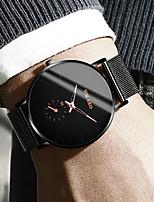 Недорогие -Муж. Нарядные часы Кварцевый Современный Стильные Нержавеющая сталь Черный / Серебристый металл / Розовое золото 30 m Защита от влаги Повседневные часы Cool Аналоговый На каждый день Мода -