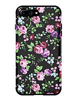 Недорогие -Кейс для Назначение Apple iPhone XS / iPhone XR / iPhone XS Max Защита от удара Кейс на заднюю панель Цветы ТПУ / ПК