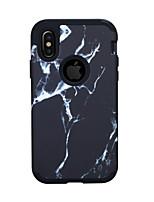 Недорогие -Кейс для Назначение Apple iPhone XS / iPhone XR / iPhone XS Max Защита от удара Кейс на заднюю панель Полосы / волосы / Мрамор ПК