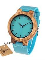Недорогие -Для пары Нарядные часы Японский Японский кварц Стильные силиконовый Небесно-голубой 30 m Повседневные часы деревянный Аналоговый Мода - Синий Синий Два года Срок службы батареи
