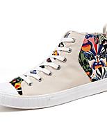 Недорогие -Муж. Комфортная обувь Полотно Лето Кеды Черный / Бежевый