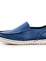 Недорогие -Муж. Комфортная обувь Микроволокно Лето Мокасины и Свитер Черный / Синий / Коричневый