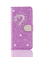 cheap -Case For Samsung Galaxy A51 A31 A71 Wallet / Card Holder / with Stand Full Body Cases Glitter Shine Heart PU Leather Case For Samsung A70E A41 A11 A21 A91 A81 A20e A10e A50s A30s A70s A20 M20 M10 A750