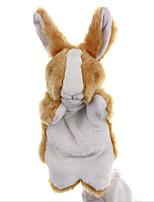 Недорогие -Rabbit Мягкие и плюшевые игрушки Милый Взаимодействие родителей и детей Веселая Переносной Хлопок / полиэфир Все Игрушки Подарок 1 pcs