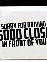Недорогие -извините за вождение, так близко смешные буквы наклейка багажника автомобиля отличительные знаки