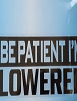 Недорогие -будь терпелив, меня опускают буквы шаблон автомобиля предупреждение стикер мода украшения