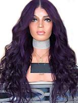 Недорогие -Парики из искусственных волос Естественные кудри Стиль Стрижка каскад Без шапочки-основы Парик Фиолетовый Темно-лиловый: Искусственные волосы 68~72 дюймовый Жен. Новое поступление Фиолетовый Парик