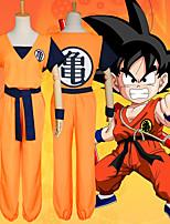 Недорогие -Вдохновлен Жемчуг дракона Son Goku Аниме Косплэй костюмы Японский Косплей Костюмы Кофты / Брюки / Пояс Назначение Муж.