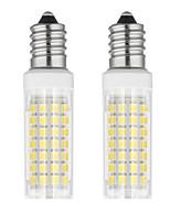 Недорогие -2pcs 6 W LED лампы типа Корн 750 lm E14 T 88 Светодиодные бусины SMD 2835 Тёплый белый Холодный белый 85-265 V