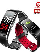 Недорогие -умный браслет Q8S сердечного ритма умный диапазон монитор сна фитнес-трекер кровяное давление часы водонепроницаемый цветной экран спортивный ремешок
