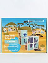 Недорогие -Деревянные пазлы Головоломка Куб Деревянные блоки профессиональный уровень Простой Новый дизайн ABS смолы 4 pcs Детские Все Игрушки Подарок