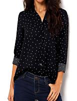 Недорогие -Жен. Рубашка Горошек Черный