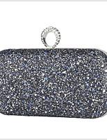 Недорогие -Жен. Молнии PU Вечерняя сумочка Сплошной цвет Черный