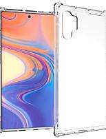 Недорогие -Кейс для Назначение SSamsung Galaxy Note 9 / Note 8 / Galaxy Note 10 Защита от удара / Прозрачный Кейс на заднюю панель Однотонный ТПУ