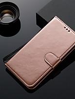 Недорогие -Кейс для Назначение Huawei Huawei Mate 20 pro / Huawei Mate 20 Бумажник для карт / Флип Чехол Однотонный ТПУ
