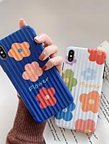 Недорогие -чехол для яблока iphone xs / iphone xr / iphone xs max ультратонкий / рисунок с задней обложкой мультфильм / цветок тпу