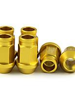 Недорогие -m12 20 шт. / компл. 1.25 гайки крепления алюминиевого сплава колесные гайки противоугонные винты