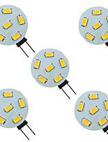Недорогие -5 шт. 1.5 W Двухштырьковые LED лампы 200 lm G4 6 Светодиодные бусины SMD 5730 9-30 V